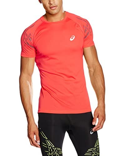 Asics Camiseta Manga Corta Speed Ss Top Rojo