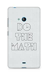 Amez designer printed 3d premium high quality back case cover for Microsoft Lumia 540 (Funny Quote2)