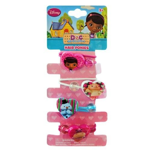 Disney Doc McStuffins Ponytail Holders - Girls Hair Accessory