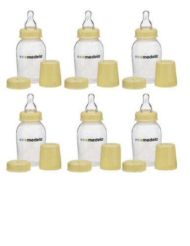 Medela Breastmilk Feeding Storage & Collection Bottle (5 oz/150 ml) BPA/DEHP Free - (Set of 6) - 1