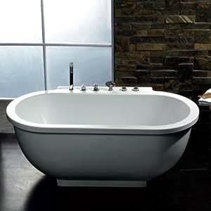 Ariel Bath AM128JDCLZ Whirpool Tub, 70.87