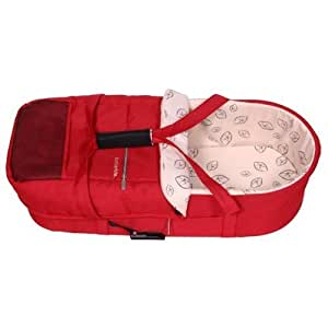 amazon   bumbleride 2011 indie twin carrycot ruby red by
