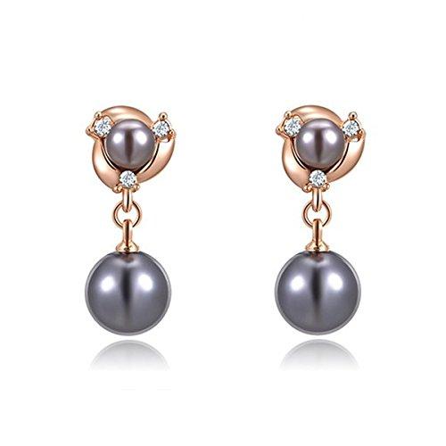 charm-grey-pearl-drop-earrings-womens-alloy-round-hoop-earrings