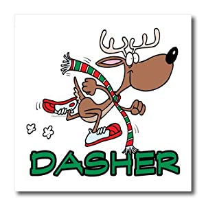 ht_103941_2 Dooni Designs Random Toons - Cute Running Reindeer Dasher - Iron on Heat Transfers - 6x6 Iron on Heat Transfer for White Material