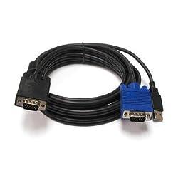 LINKSKEY c-kvm-su10 linkskey 10 ft USB-vga kvm combo cable