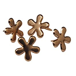 Rayher - 7835524 - tachuelas flor, 12 mm, diseño 50 pcs, cobre