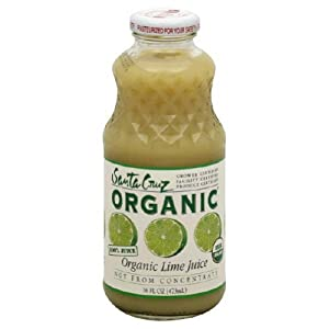 Santa Cruz 100 % Organic Lime Juice -- 16 fl oz