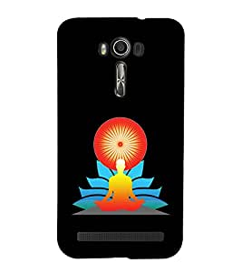 printtech Meditation Aura Back Case Cover for Asus Zenfone 2 Laser ZE550KL / Asus Zenfone 2 Laser ZE550KL (5.5 Inches)