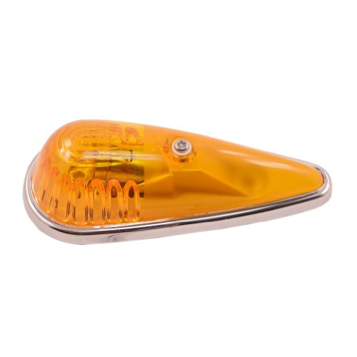 Amber -Chrome Base, Cab Marker, Tear Drop Running Light (Teardrop Cab Lights compare prices)