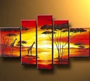 Amazon.com: 5 Pics African Grassland Giraffe Abstract