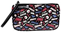 Sourpuss Bl/pk Death Horror Monster Terror Wristlet Purse Bag Gothic Psychobilly from Sourpuss Clothing