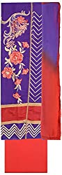Shrumani Global Women's Chanderi Silk Unstitched Dress Material (SG006, Purple & Red)