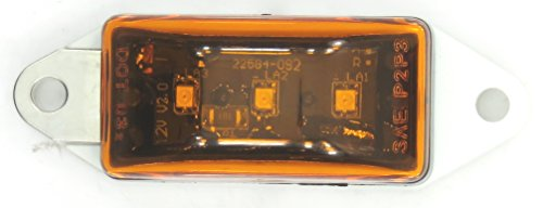Super Light - Amber Or Red Submersible Mini Sealed Rectangular Clearance / Marker Led Light With Power Lead. For Trucks, Trailers, Rv'S, Boat Trailers & Marine