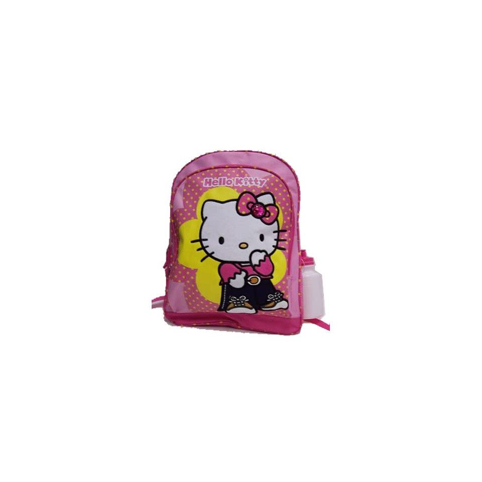 Christmas Saving   Sanrio Hello Kitty Large Backpack with Water Bottle, Size Approximately 16