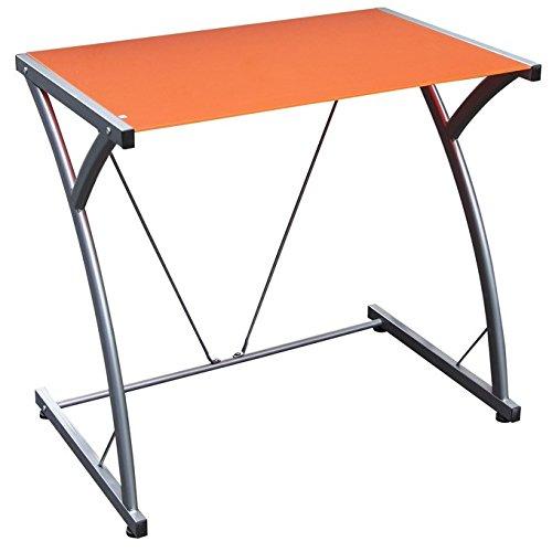 Scrivania portacomputer per ufficio cameretta colore arancio cm 80x50xH 73