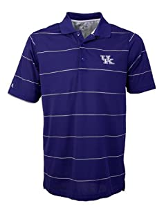 Mens University of Kentucky Xtra-lite Striped Polo by Antigua