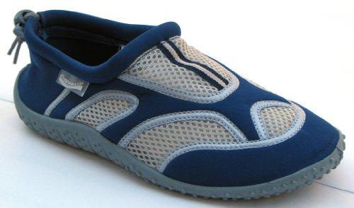 Aquatik Men and Women Aqua Water Shoes Beach Shoes with Drawstring closure AD2352L Women 9 Navy