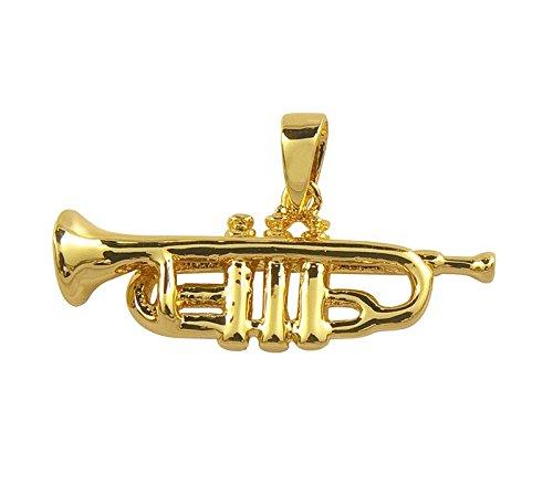Anhnger-Trompete-fr-Kette-Schnes-Geschenk-fr-Musiker-mit-Geschenkverpackung