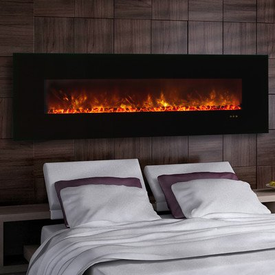 """Clx Series Ambiance Custom Linear Delux Electric Fireplace Size: 25.5"""" H X 80"""" W X 5.13"""" D"""
