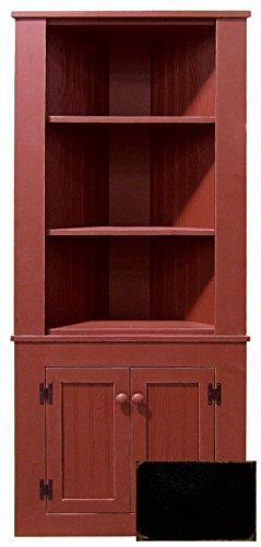 Wooden Corner Hutch (Old Black) (Kitchen Hutch Corner compare prices)