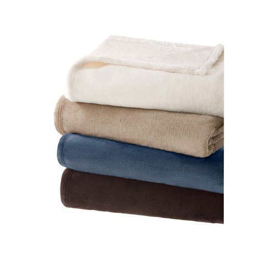 Micro Tec Plush Blanket In Sapphire Size: King front-629011
