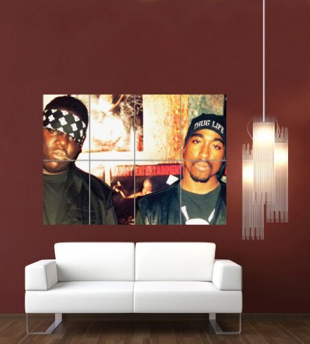 BIGGIE AND TUPAC 2PAC GIANT WALL POSTER PRINT G632 (Tupac Picture compare prices)
