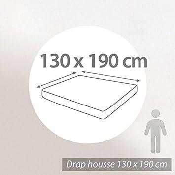 prot ge matelas 130x190 cm cm achille molleton 100 coton 400 400 g m2 cuisine maison. Black Bedroom Furniture Sets. Home Design Ideas