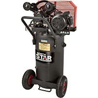 - NorthStar Belt Drive Single-Stage Portable Air Compressor - 2 HP, 20-Gallon, Vertical, 5.5 CFM by NorthStar