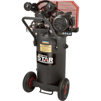 Sale!! - NorthStar Belt Drive Single-Stage Portable Air Compressor - 2 HP, 20-Gallon, Vertical, 5.0 ...