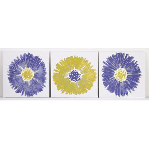 Cotton Tale Designs 3 Piece Wall Art, Periwinkle