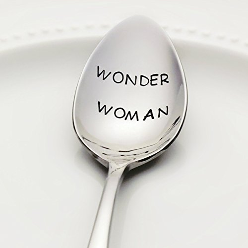 Wonder Woman - Stamped Spoon, Stamped Silverware - Unique Gift for Her (Cold Cake Display compare prices)