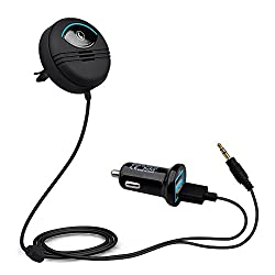 VeeDee Kript Noise Cancellation Car / Audio Music Receiver CSR Bluetooth 4.0 for Car / Home Stereo Supports with Noise Isolator, Dual Port USB Car Charger and Magnetic Base