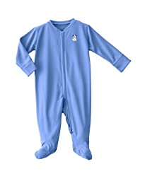 HALO ComfortLuxe Coverall Silky, Blue Pup Pals, 0-3 Months
