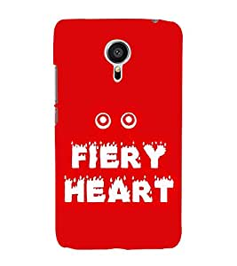 Fiery Heart 3D Hard Polycarbonate Designer Back Case Cover for Meizu MX5