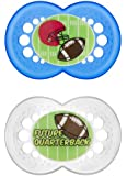 MAM Sports Silicone Pacifier, Football, 6 Plus Months, 2-Count