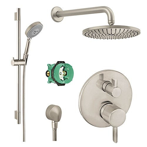Hansgrohe KSH04447-27474-66BN Raindance Shower Faucet Kit with ...