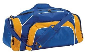 Two-Way Zipper Tournament Duffle Bag, Royal/Light Gold/White, One Size