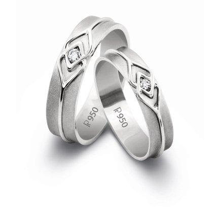 Real Silver Real Diamond Couple Ring
