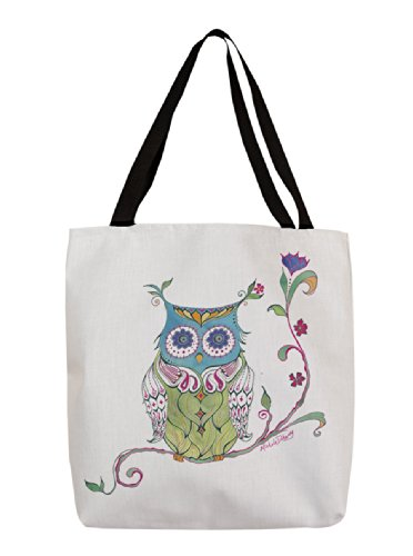 Thumbprintz Shopping Tote, 18-Inch, Owl Branch front-471593