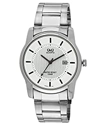 Q&Q Standard Analog White Dial Mens Watch - A438J201Y