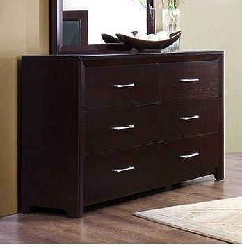 Edina 6 Drawer Dresser in Espresso Cherry by Homelegance