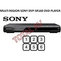 MULTI REGION SONY DVP-SR160 DVD PLAYER + FREE SCART KABEL