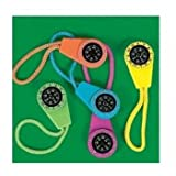 Neon Compass On Cord (1 dozen) - Bulk [Toy]