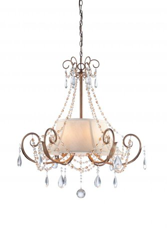 B0083UHQRO Artcraft Lighting CL1967 Teardrop Six-Light Chandelier