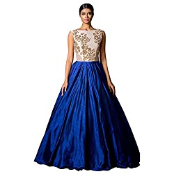 bridal collection blue fancy Embroidered gown