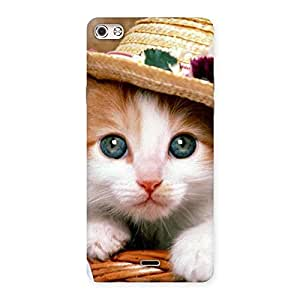 Delighted Premium Cute Hats Cat Multicolor Back Case Cover for Micromax Canvas Silver 5