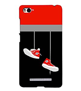 PRINTSHOPPII FUNNY SHOES Back Case Cover for Xiaomi Redmi Mi4i::Xiaomi Mi 4i