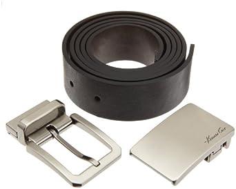 Kenneth Cole New York Mens Box Reversible Belt Set, Black/Brown, 42
