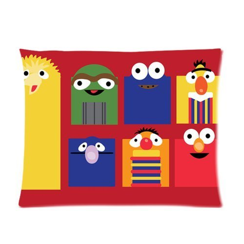 Cartrol Cotton & Polyester Custom Pillowcase-Sesame Street Custom Rectangle Pillow Cases 20X26 (One Side) front-494790