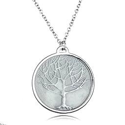 Handmade Noctilucent Tree Pendant Necklace(Blue)